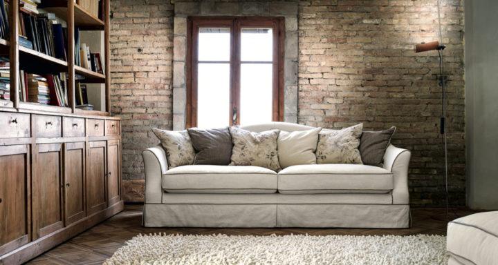 Cava divani Brera arredamento soggiorno classico | Misure Arreda - Mobili e Arredo in provincia di Bergamo